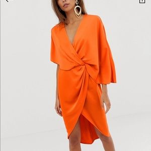 ASOS orange dress